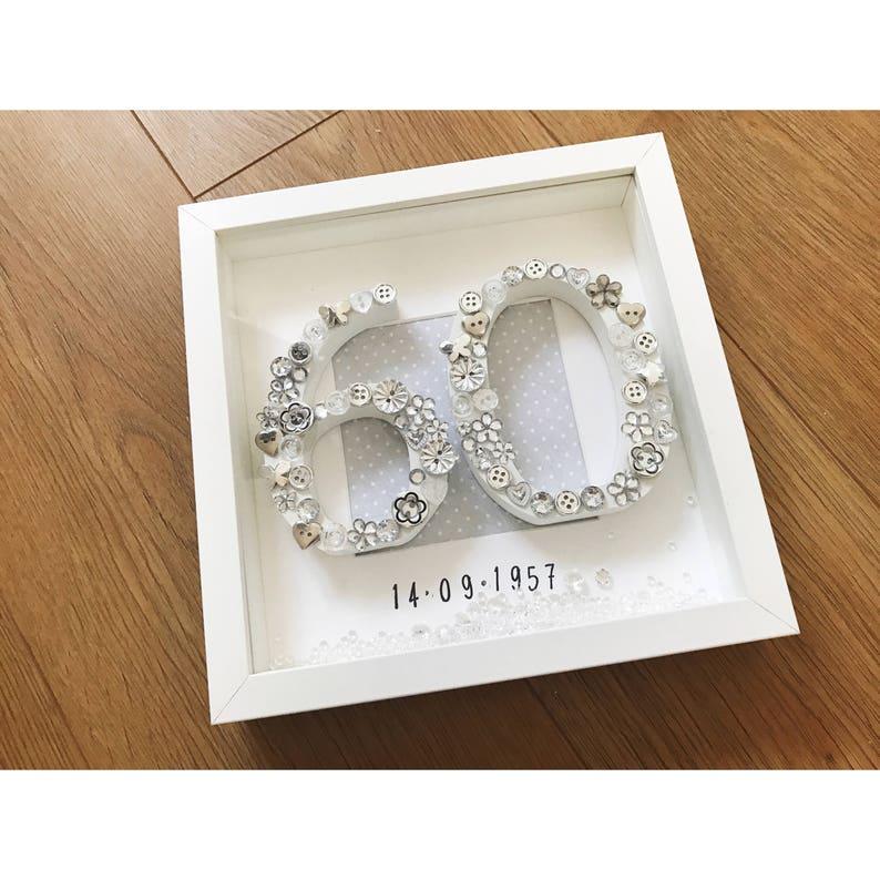 Diamond Wedding Anniversary Gift 60 Years Personalised Etsy