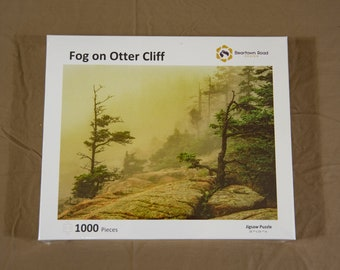 Jigsaw Puzzle, 1000 Piece, Fog on Otter Cliff, Acadia National Park, Made in USA