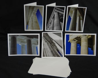 Greeting Cards, Lincoln Memorial, Columns, Architecture Photography, Washington, D.C., Photography Greeting Cards