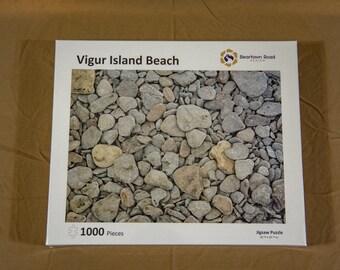 Jigsaw Puzzle, 1000 Piece, Vigur Beach Rocks, Iceland, Made in USA