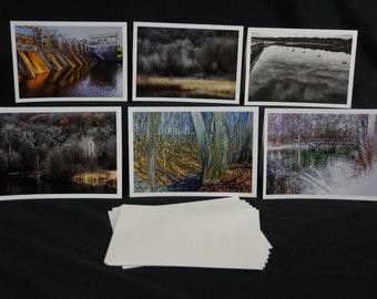 Greeting Cards, Huron River, Ann Arbor, Nature Photography, Photography Greeting Cards