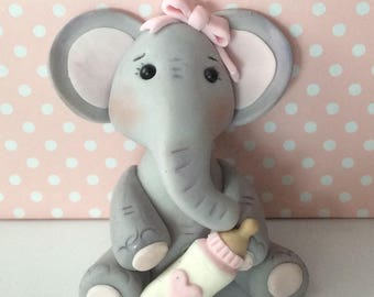 Baby Elephant Girl Or Boy Cake Topperbaby Shower Cake Topperbirthday Elephant Cake Topper
