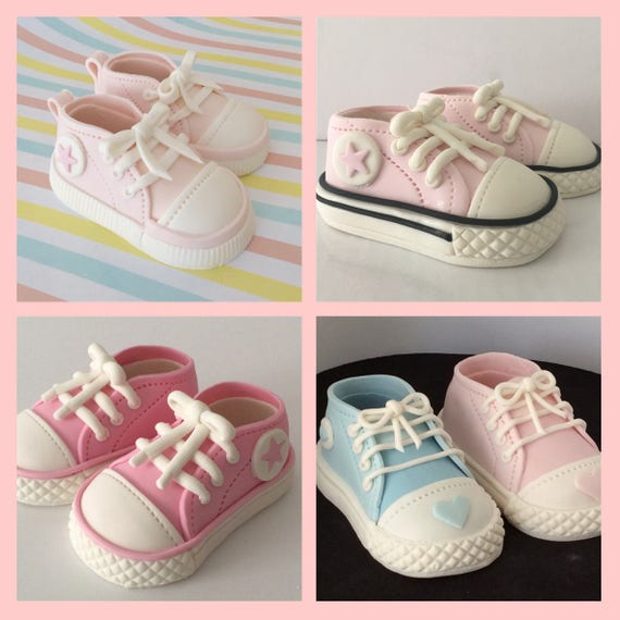 Baby girl or boy converse cake toppersfondant baby  50c4ed2a1b3b