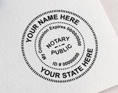 Custom Notary Stamp, Self Inking Notary Stamp, Notary Public Stamp, My Commission Expires Stamp. Notary Rubber Stamp Z76