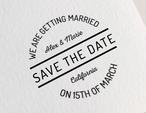 save the date stamp wedding stamp tags stamp wedding stamp etsy
