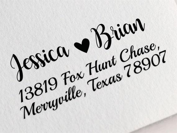 Custom Return Address Stamp Calligraphy Address Stamp Personalized Address Stamp Custom Rubber Stamp Z42