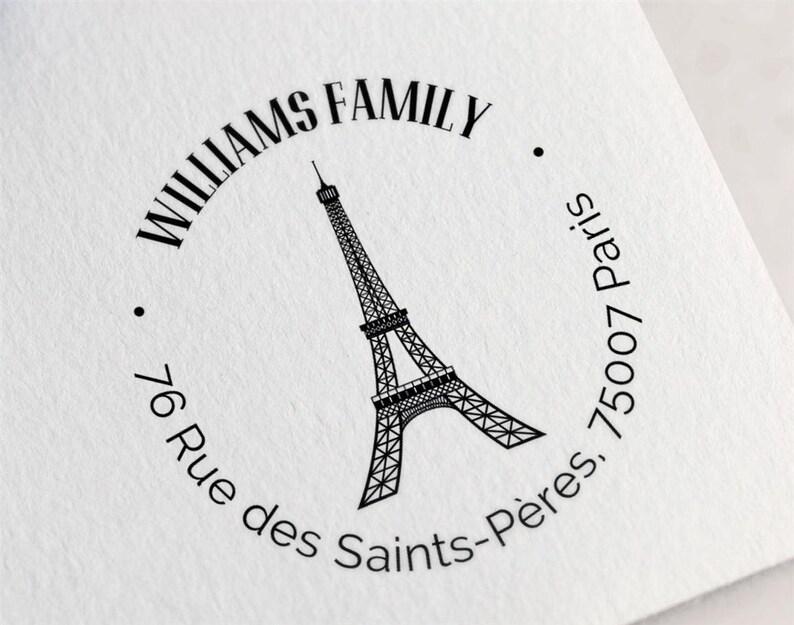 Eiffel Tower Rubber Stamp, France Return Address Stamp, Paris Rubber Stamp,  Custom Address Stamp Z64