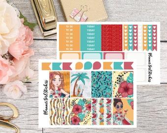 Aloha Mini Kit Planner Stickers - For Erin Condren Life Planner or Happy Planner