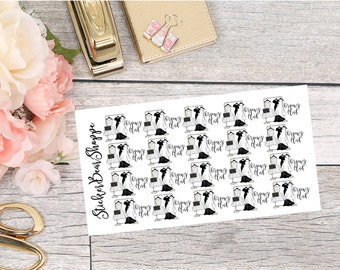 Organize Closet Stickers - For Erin Condren Life Planner or Happy Planner