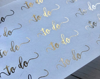 To Do Foiled Script Planner Stickers - For Erin Condren Life Planner or Happy Planner