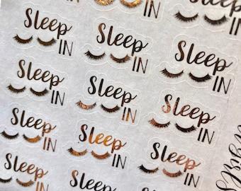 Sleep In Foiled Script Planner Stickers - For Erin Condren Life Planner or Happy Planner