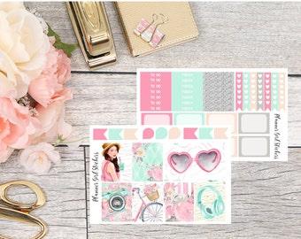 Summer Mini Kit Planner Stickers - For Erin Condren Life Planner or Happy Planner