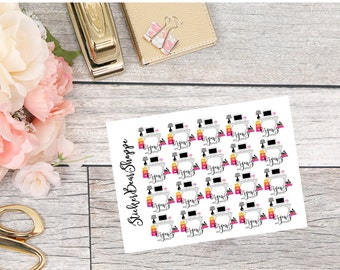 Organize My Office Stickers - For Erin Condren Life Planner or Happy Planner