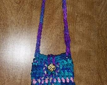 Crochet cellphone pouch