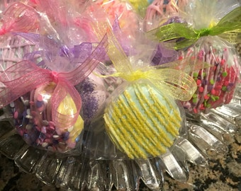 Easter/Spring/Pastel Chocolate Covered Double Stuffed Oreo Cookies(1 DOZ)/Birthday Parties/Baby Showers/Girl's Birthday/Thank You Gift