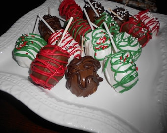 Mini Chocolate Covered Twinkies.  Hostess Gifts/Teacher Gifts/Birthday Parties/Bridal Shower/Wedding/Office Parties/Valentine's Day