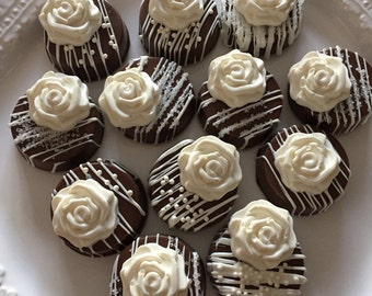Wedding Favors/Chocolate Covered Oreo Cookies(1 DOZ)/Bridal Showers/Birthday Parties/Hostess Gifts/Treat Table