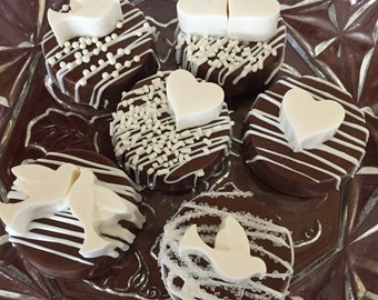 Wedding Chocolate Covered Oreo Cookies(1 DOZ)/Bridal Showers/Bachelorette Parties/Baptism/Holy Communion/Anniversary