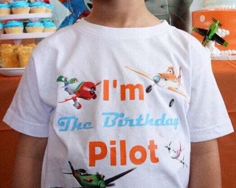 Planes Movie Birthday Shirt. I am the birthday pilot planes shirt.