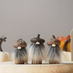 Acorn Gnome  -  PRE ORDER Fall Decoration, Gray, Thanksgiving, Tomte, Nisse, Handmade Home Decor Scandinavian Home Nordic Gnome