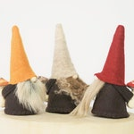Mini Nordic Gnome - Fall Collection - Hand painted Mushrooms , Fall Home Decoration , Tiered Tier Decorating