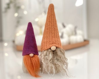 Nordic Gnome® Autumn Decor, Tiered Tray or Thanksgiving Decoration, Scandinavian Tomte Tradition
