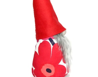 MariGnome *SPECIAL EDITION* Nordic Gnome made with Marimekko Fabric, Tomte, Christmas Decoration, Modern Home, Scandinavian Christmas Decor