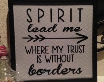 Spirit Lead Me frame