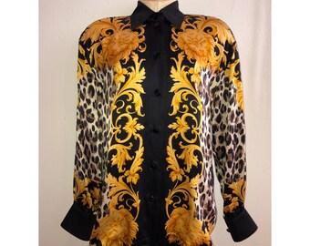 927a645becc64 Vintage Escada Silk Blouse