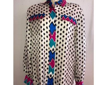d247fb65114ebd Vintage Adrianna Papell Silk Blouse