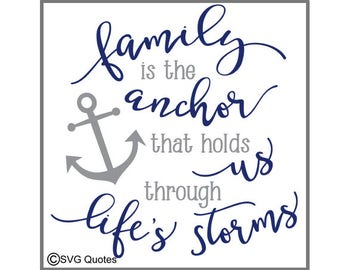 Anchor Quote Svg Etsy