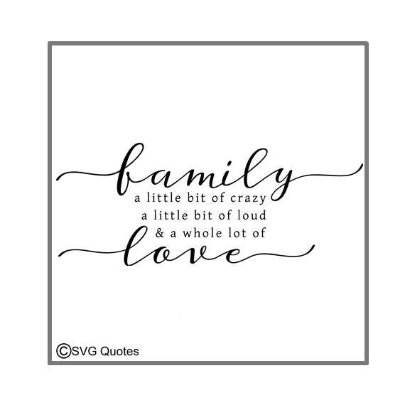 Download SVG Cutting file Family a whole lot of Love DXF EPS For ...