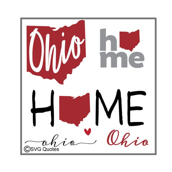 Svg Cutting File Ohio State Dxf Eps For Cricut Explore Etsy