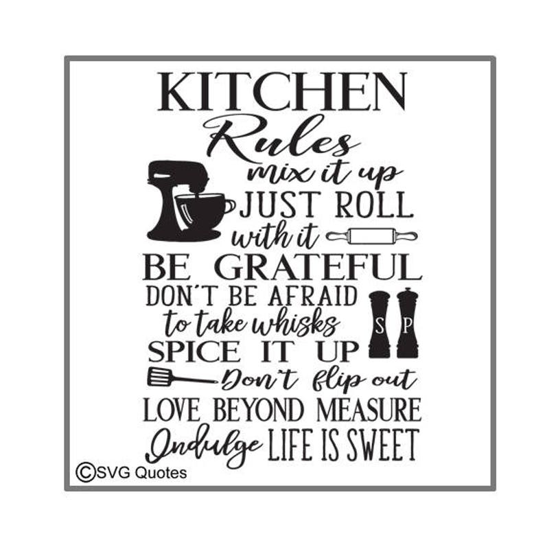 Download SVG Cutting File Kitchen Rules DXF EPS For Cricut Explore ...