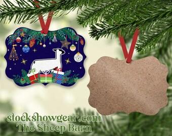Sheep Ornament,Lamb Ornament,Sheep showman Ornament,Boy with lamb ornament,Farm Ornament,Sheep Gift,Lamb Gift,Stock show Ornament,sheep show