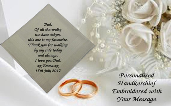 PERSONALISED MEN HANDKERCHIEF//HANKIE HUSBAND TO BE//GROOM GIFT WEDDING KEEPSAKE