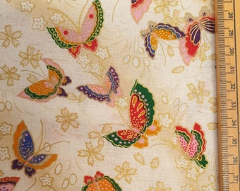 Japanese Butterfly Fabric UK 100% Cotton Material By Metre Curtains Patchwork Cushions Bags Bunting