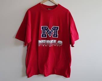 Vintage Mississippi Rebels t shirt 863501903cd6