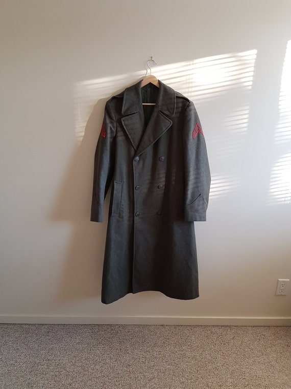Korean War US Army trench coat, US army wool long