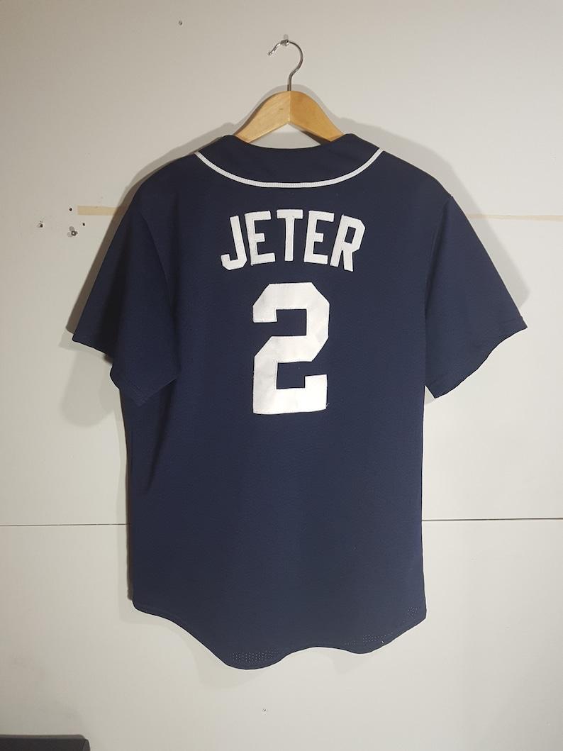 buy online 0a070 c991f Vintage NY Yankees Jeter jersey, 90 s New York Yankees jersey, home jersey,  away jersey, 90 s MLB jersey, baseball jersey, NY Jeter player