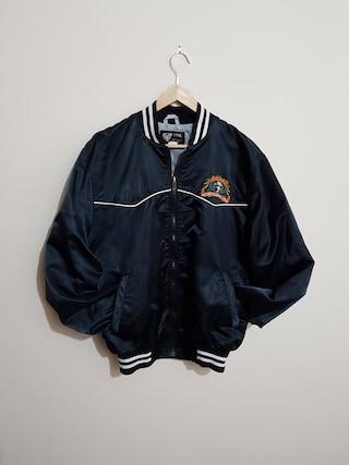 Vintage Jack Daniels bomber jacket, 80 s bomber jacket, 90 s bomber, black satin bomber jacket, 80 s clothing, size men's large