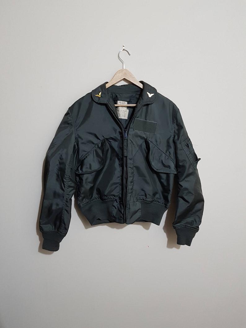 1e0fd712d84 Vintage US Army Bomber Jacket Authentic Military jacket