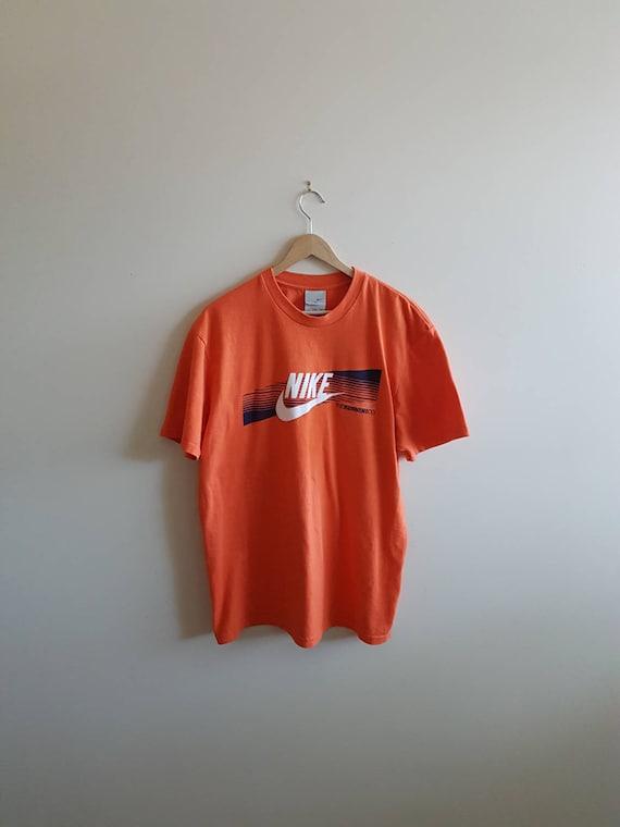297578de Vintage nike t shirts orange nike shirts 90s Nike big | Etsy