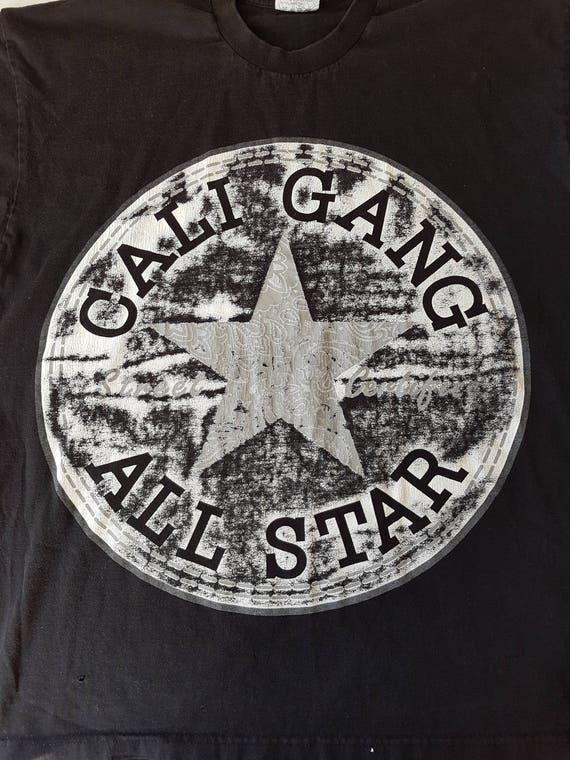 t shirt vintage California Gang, Cali hip hop, côte ouest, rap, street wear, 90 s hip hop, vie de voyou, taille XXL