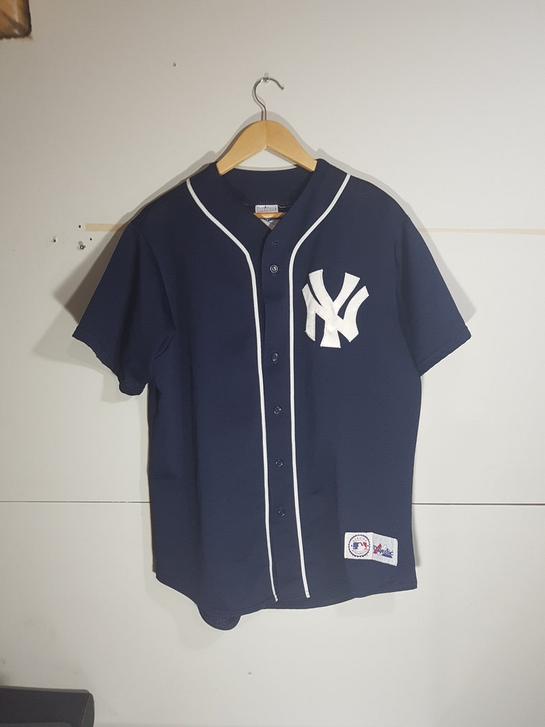 buy online 109c3 2405a Vintage NY Yankees Jeter jersey, 90 s New York Yankees jersey, home jersey,  away jersey, 90 s MLB jersey, baseball jersey, NY Jeter player