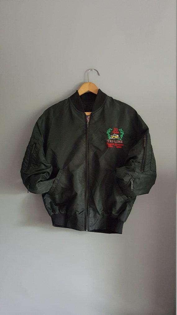 Vintage MA-1 style bomber jacket, 80 s bomber jack