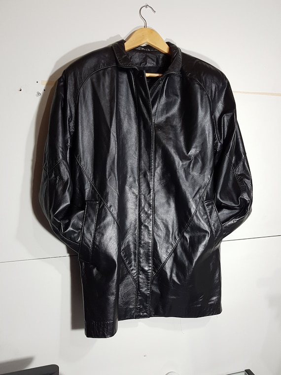 Vintage Women S Leather Jacket 80 S Leather 90 S Etsy