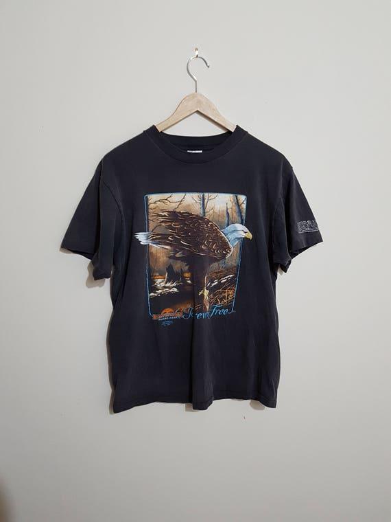 Vintage 3D emblem t shirt, biker t shirts, USA, ba