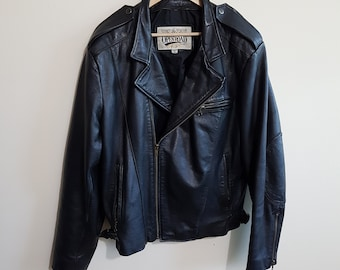 Vintage leather jacket, 80 s leather, 90 s leather, punk, rocker chick, biker jackets, size men's large