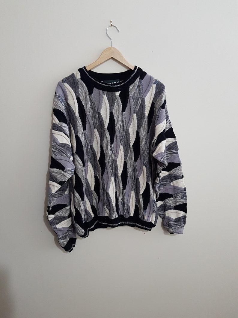 4b677ee23 Vintage coogi style sweater, 90 s coogi style crewnecks, 90 s hip hop,  street wear, rap, urban, Notorious BIG, size men's large